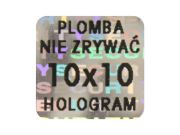 Plomby holograficzne 10mm x10mm