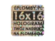 Plomby holograficzne 16mm x16mm